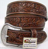Nocona Belts Men's Western Casual Dress Accessories Brown Leather Belt 46