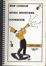 *NEW LONDON IA 1995 *MUSIC BOOSTERS *RECIPES COOK BOOK *IOWA COMMUNITY SCHOOLS