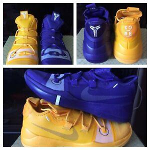 Nike Kobe Ad Exodus La Lakers Purple Yellow Gold What The Black Mamba Wtk Sz 10 Ebay