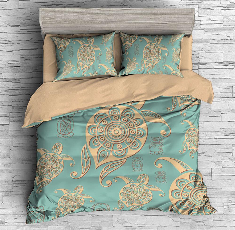 Abstract Pattern A Turtle 3D Digital Print Bedding Duvet Quilt Cover Pillowcase