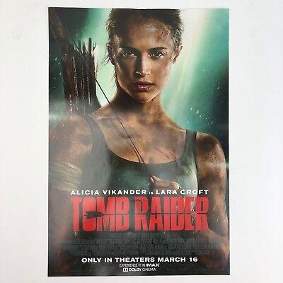 Alicia Vikander Tomb Raider Movie Promo Movie Poster 17 X 11 1 2 Ebay