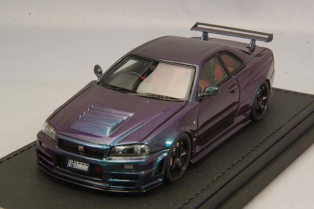 alta calidad Ignición 1 43 Nissan Skyline Nismo R34 R34 R34 GT-R Z-Tune Púrpura de medianoche III IG1609  Tu satisfacción es nuestro objetivo