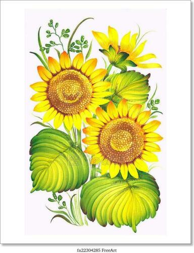 G Sunflower  Art Print Home Decor Wall Art Poster