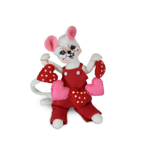 Annalee Dolls 2020 Valentine 5in String of Hearts Mouse Plush New with Tags