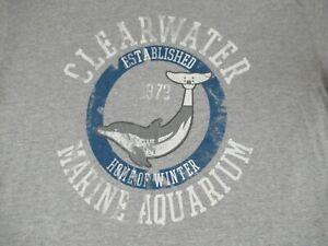 Clearwater-Marine-Acquario-Dolphin-Tale-2-XL-Grigio-T-Shirt-D266