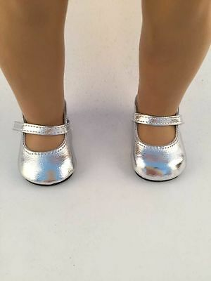 best gift fashion Silver shoes for 18inch American girl doll party b300