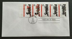 USA-1994-Locomotive-Trains-Stamp-FDC-official-iss-mild-toned-Lot-C