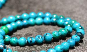 "New 8mm blue Azurite Chrysocolla Gemstones Round Loose Beads 15/"""