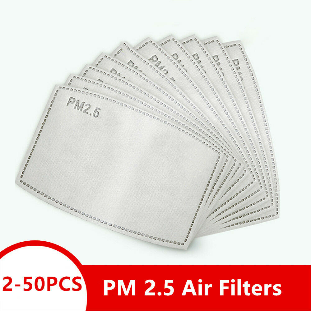 30pcs Activated Carbon Filter Replaceable Anti Haze 5 Layers Replaceable Anti Haze Filter Paper Protective Mouth Filter for Outdoor