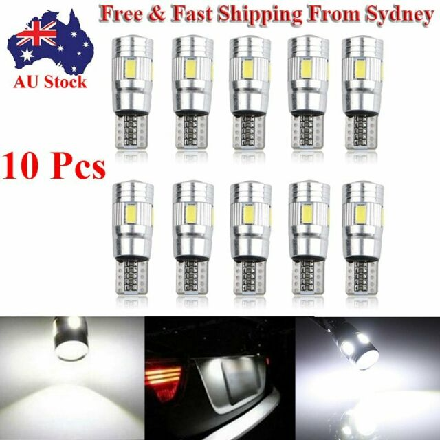 2 X T10 6-SMD 5630 LED Canbus Car Width Light Lamp Bulb Auto Super Bright White