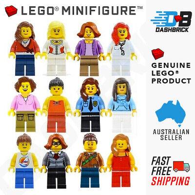 Woman, Female Genuine LEGO® Minifigures - NEW Black Jacket Girl Minifigure