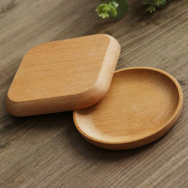 Wood Serving Tray Wooden Plate Tea Food Server Dishes Water Drink Fruit Plate
