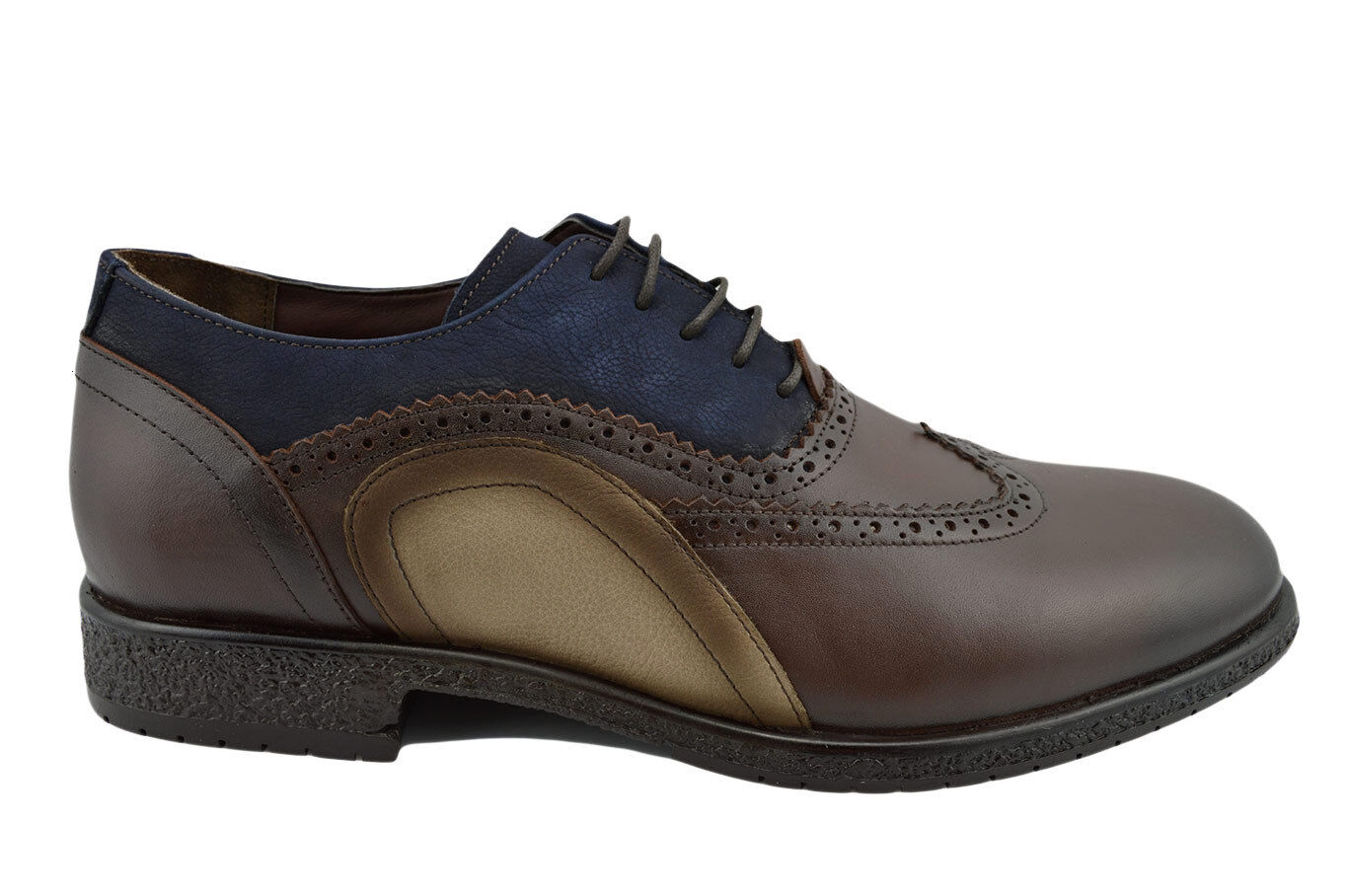 230 OVATTO OVATTO OVATTO braun Blau Leather WINGTIP Oxfords Dress Men schuhe NEW COLLECTION 27890f