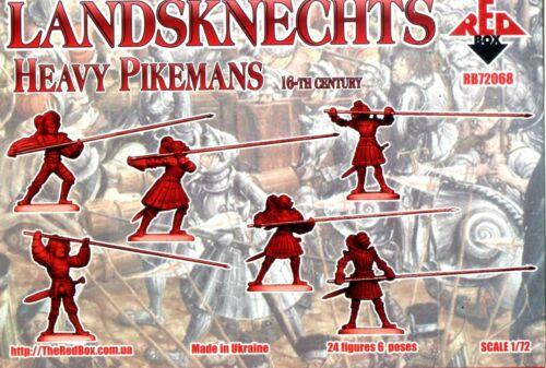 24 Figures Heavy Pikemans Red Box 1//72 72068 Landsknechts 16th Century