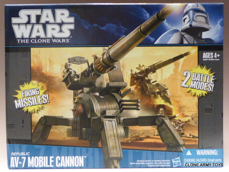 New Star Wars Republic AV-7 Mobile Cannon Clone Collection AOTC TCW CW MISB