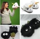 Womens Warmer Cute Unicorn Totoro Plush Comfort Indoor Antiskid Slipper Shoes JJ