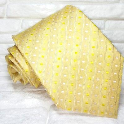 Cravatta Oro Nuova 100% Seta Top Quality Realizzata A Mano Marca Tre Aspetto Elegante