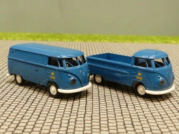 1 87 Brekina   1399 1399 1399 + 1400 VW t1 B DSB Dinamarca DK camastro + recuadro 2e5fa6