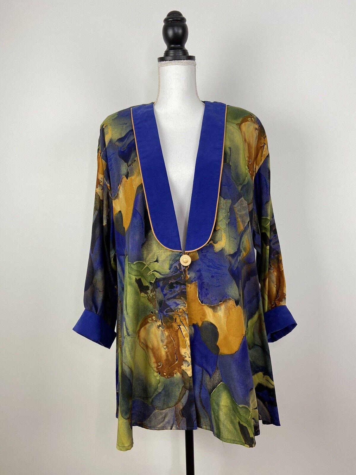 Vintage 90s Claire McCardell Blazer Blouse Jacket… - image 1