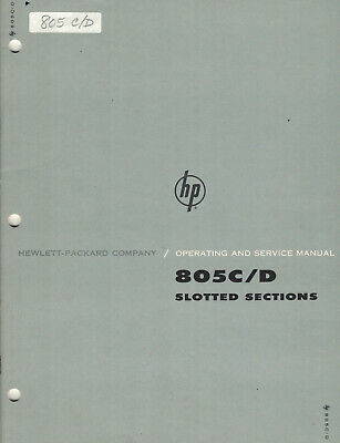 Business & Industrial HP 806B Coaxial Slotted line Operating ...