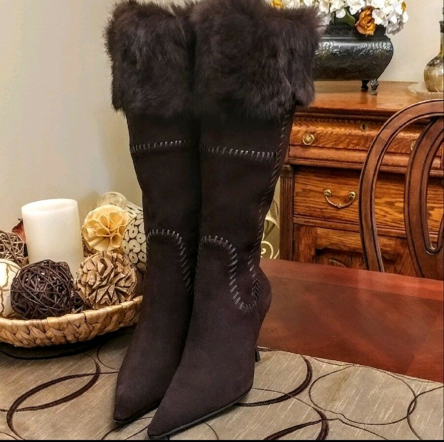 New Suede & Faux Fur Boots 8