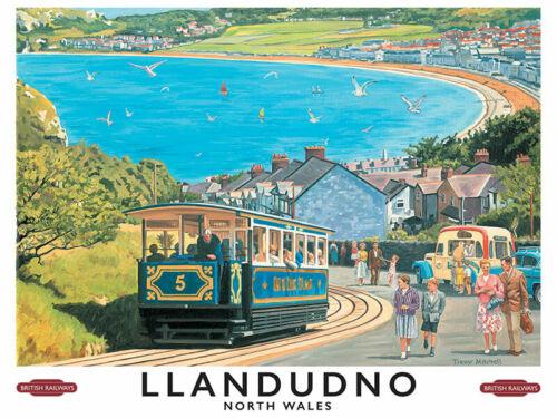 Llandudno Great Orme Tramway Wales bord de mer vacances aimant de réfrigérateur