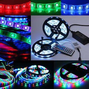 LED-RGB-5m-STRISCIA-Stripe-Barra-Strisce-5050-3528-SMD-Banda-Luci-Luce-Lampada