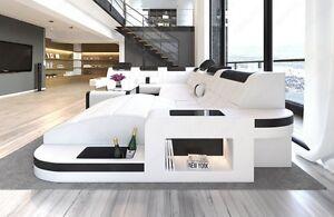 Ledersofa wave xxl form led luxus design sofa eckcouch - Luxus ledersofa ...