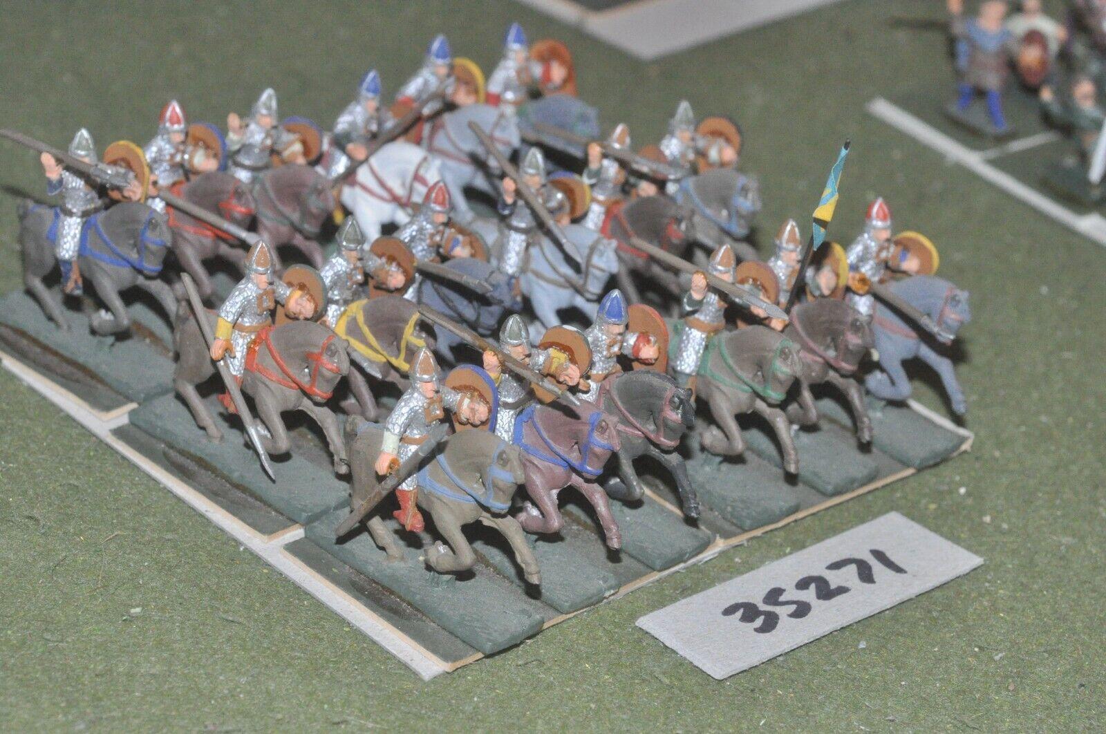 25mm dark ages   anglo-danish - milites 18 figures - cav (35271)