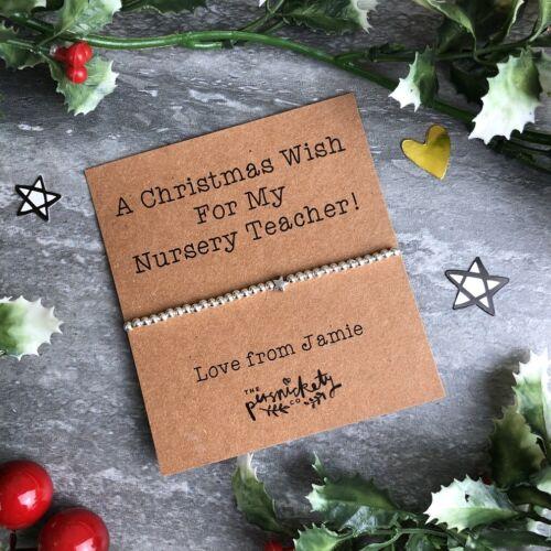 Nursery Teacher Christmas Gift Nursery Teacher Gift Beaded Bracelet