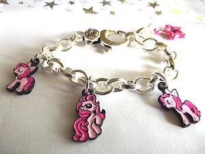 3 Little pony Charme Réglable 15 mm Bracelet Âge 2 To année 4 Boîte Cadeau Anniversaire