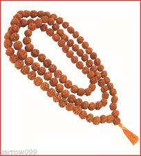 ORIGINAL  RUDRAKSHA JAPA MALA ROSARY 108 +1 (10mm) BEAD YOGA PRAYER MEDITATION
