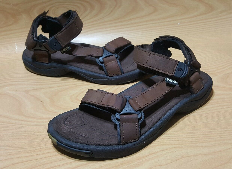Teva S N 6524 Ankle Strap Sandal 12 Mens Brown Leather
