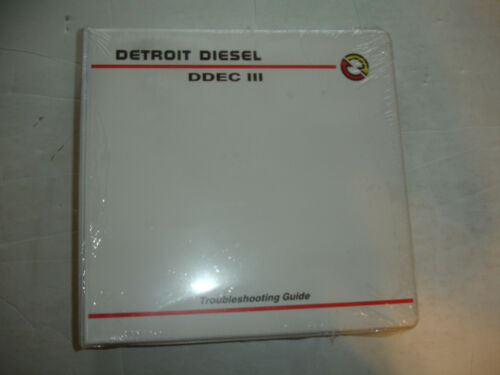NewSealed Detroit Diesel DDEC III 3 Factory TROUBLESHOOTING GUIDE Manual Service