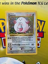 Pokémon Card Chancey *3//102* Base set Holo Rare near mint trading card