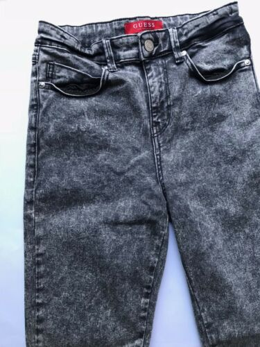 Guess Grey Vintage Wash Open Hem High Waist Skinny Jeans