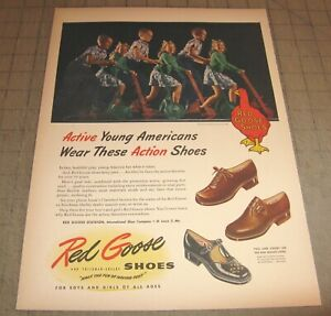 """1946 RED GOOSE SHOES 10.5"""" x 14"""" Life Magazine 1-Page Ad - For Boys & Girls"""