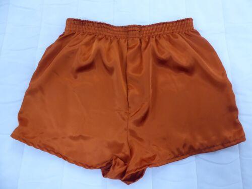 Arancione Bruciato Raso Boxer in piccoli con spedizione gratuita
