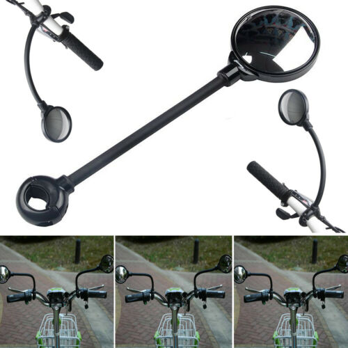Mountain Bike Rearview Mirrors Bicycle Handlebar Convex Rear Cycling View Mirror