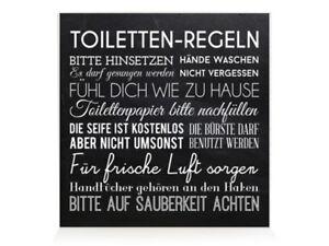 holzblock shabby toiletten regeln schwarz bad vintage. Black Bedroom Furniture Sets. Home Design Ideas