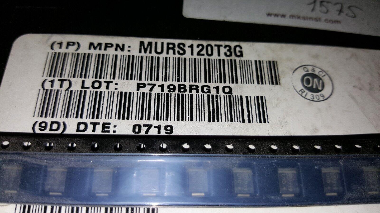 SMB 50pcs On Semi 600V//1A Ultrsfast Rectifier MURS160T3