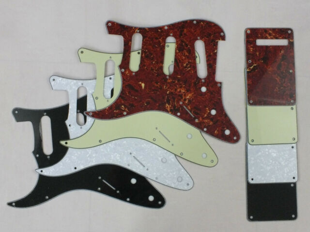 LEFT HANDED SSS SCRATCH PLATE Pickguard SET in 6 Colours to fit USA Stratocaster