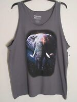 Mens Elephant Athletic Tank Top Xl Brown