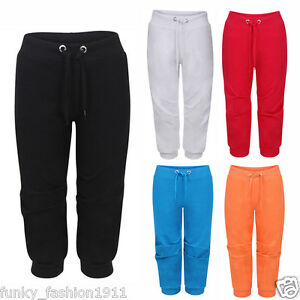 Ladies-Womens-Cropped-Jogging-Bottoms-3-4-Length-Pants-Trackies-Plus-Size-UK8-28