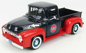 MOTOR-MAX 1/24 FORD USA   F-100 PICK-UP 1956 GULF 1956   BLUE RED