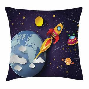 Outer-Space-Cushion-Cover-by-Rocket-on-Planetary-System-with-Earth-Stars