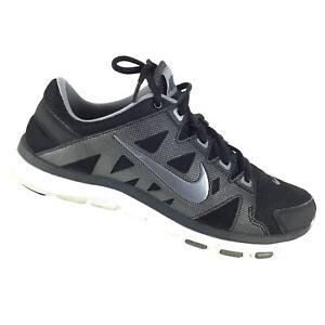 2060d78be0f23 Nike Flex Supreme TR 2 Women s 8 Cross Trainer Running Black Silver ...