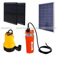 12v/24v Solar Water Pump Kit With Solar Panel & Folding Solar Panel For Watering