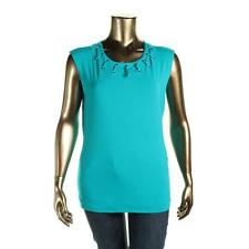 INC 6932 Womens Green Lace-Up Grommet Sleeveless Casual Top Shirt XL BHFO
