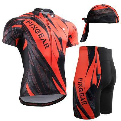 FIXGEAR CS-6802-SET Cycling Jersey & Padded Shorts MTB Bike BMX Bicycle Wear